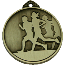 50mm Gold Running Medal